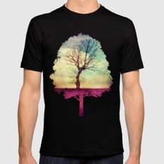 ATMOSPHERIC TREE Mens Fitted Tee SMALL Black