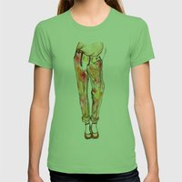 Colour crazy Womens Fitted Tee Grass SMALL