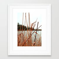 Framed Art Print featuring Lakeside view by Vorona Photography