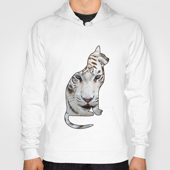 White cats. Hoody