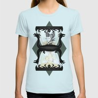 Maleficent's Hour Womens Fitted Tee Light Blue SMALL