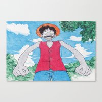 Monkey Art Luffy Canvas Print