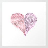 Hugs & Kisses Art Print