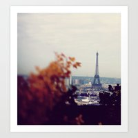 Rainy Day In Paris  Art Print