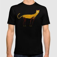 Cheetah  Mens Fitted Tee Black SMALL