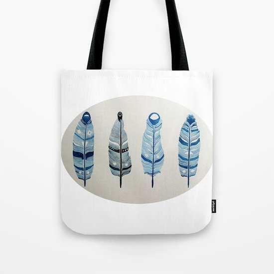 The four siblings of mother bird Tote Bag
