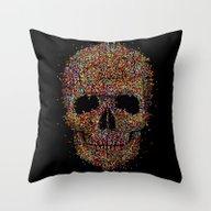 Acid Skull Throw Pillow