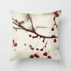 dark berries Throw Pillow