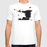 Solar Eclipse  Mens Fitted Tee White SMALL