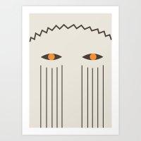 2 Mask Art Print
