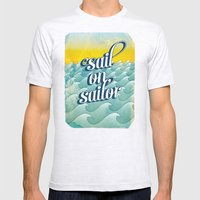 Sail on sailor, Mens Fitted Tee Ash Grey SMALL
