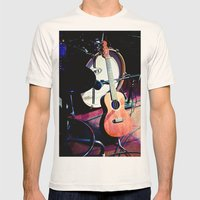 Ukulele Mens Fitted Tee Natural SMALL