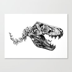 Jurassic Bloom - The Rex.  Canvas Print