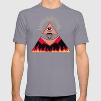 The All Seeing Eye Fieri  Mens Fitted Tee Slate SMALL