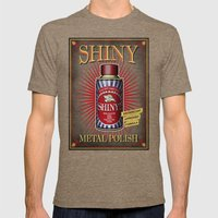 Vintage Shiny! Mens Fitted Tee Tri-Coffee SMALL