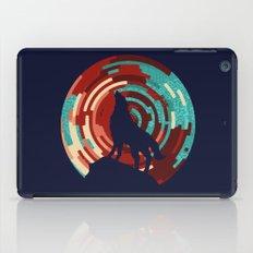 Howling wolf  DJ wall art print iPad Case