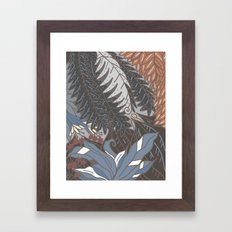 woodland with fronds Framed Art Print