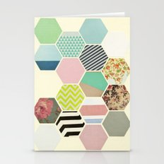 Florals And Stripes Stationery Cards
