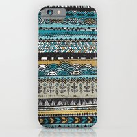 Duck egg and Gold iPhone 6 Slim Case