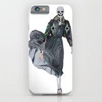 leather & ballet skeleton iPhone 6 Slim Case
