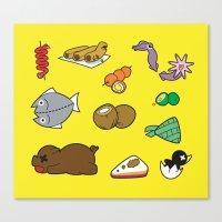 Filipino Food Pattern Canvas Print