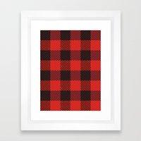 Pixel Plaid - Lumberjack Framed Art Print