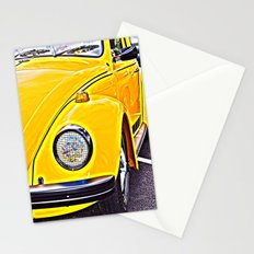 Yellow VW Beetle Stationery Cards
