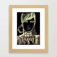 Fashion Illustration In … Framed Art Print