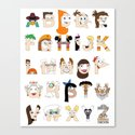P&F Alphabet Canvas Print