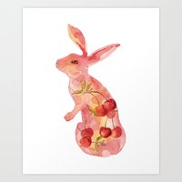 Fruit Bunny Art Print