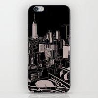 New York Black And White iPhone & iPod Skin