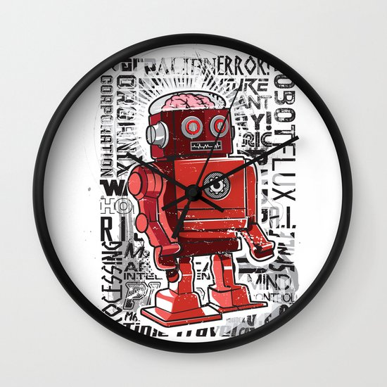 Robot Flux Wall Clock