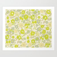 Small Floral In Neon Art Print