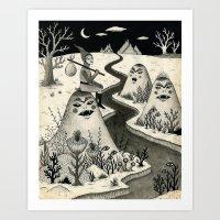 Weary Vagabond  Art Print