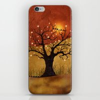 Sunset And Lights iPhone & iPod Skin