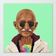 Canvas Print featuring Hipstory -  Mahatma Gand… by Amit Shimoni