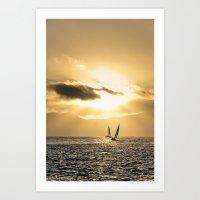 Golden Bay Art Print