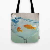 Goldfish glass Tote Bag