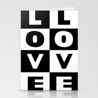 Love Black Stationery Cards