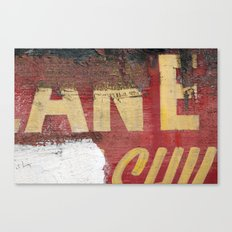 Yellow letters on red Canvas Print