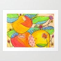 Big Citrus Art Print