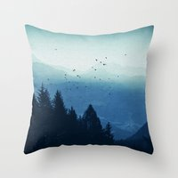 Blue Valmalenco - Alps at sunrise Throw Pillow