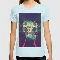 Galactic Cats Saga 1 Womens Fitted Tee Light Blue SMALL