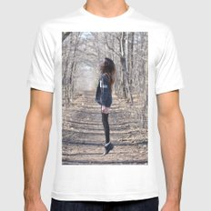 Ghost SMALL White Mens Fitted Tee