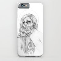 iPhone & iPod Case featuring HOW DOES YOUR GARDEN GROW B+W by Casstronaut