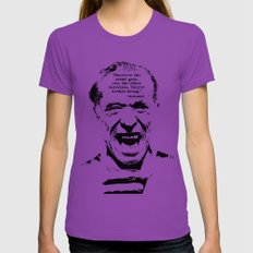 Charles Bukowski Quote Crowd Womens Fitted Tee Ultraviolet SMALL
