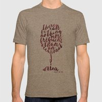 Drink - Oscar Wilde Mens Fitted Tee Tri-Coffee SMALL