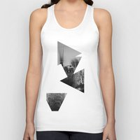 then finds me in black + white Unisex Tank Top