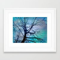 tree of wishes Framed Art Print