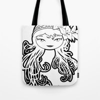 Lybee Black & White Tote Bag